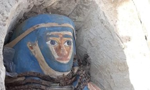 The discovered coffin - Egypt Today.