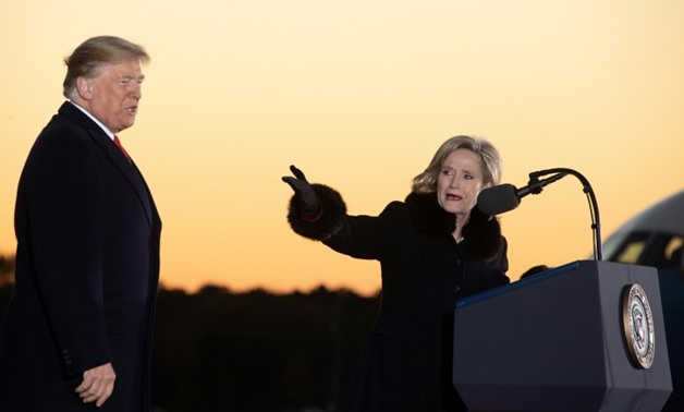 US President Donald Trump held a pair of 11th-hour campaign rallies in Mississippi to prop up Cindy Hyde-Smith's US Senate campaign