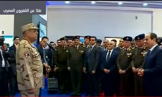 "President Abdel Fatah al-Sisi inauguarated on Monday the International Defense and Security Industry Exhibition ""EDEX-2018""-TV screenshot"