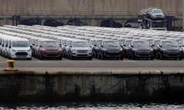 FILE PHOTO - Parked cars are pictures at the car terminal at the port of Valencia, Spain May 29, 2018. Picture taken May 29, 2018. REUTERS/Heino Kalis