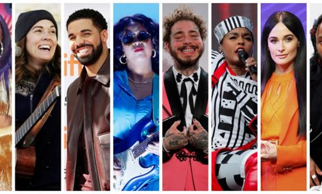 FILE PHOTO: Grammy Award nominations in Album of the Year category includes artists in this combination photo L-R: Cardi B, Brandi Carlile, Drake, H.E.R., Post Malone, Janelle Monae, Kacey Musgraves and Kendrick Lamar, in Reuters file photos. REUTERS/File