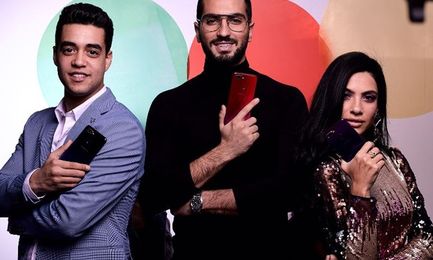 Huda El Mufti, Mohammad Al Sharnouby and Khaled Anwar connect again as OPPO F9 brand ambassadors.