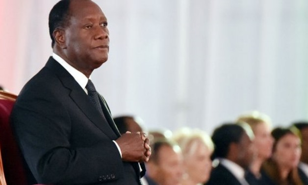 Sia Kambou, AFP | Ivory Coast's President Alassane Ouattara at a November 3, 2015 swearing in ceremony for a second five-year term in office.