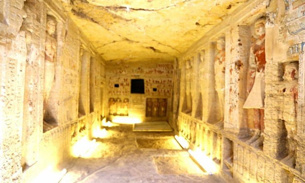 """An """"exceptionally well-preserved"""" tomb belonging to a Fifth Dynasty royal priest was discovered at Saqqara by an Egyptian archaeological mission on Saturday - Egypt Today."""