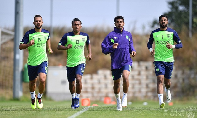 FILE- Said and Abdel Shafy at Al-Ahli training session