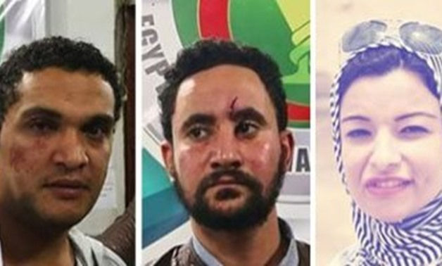 Compiled photo of journalists assaulted on Monday
