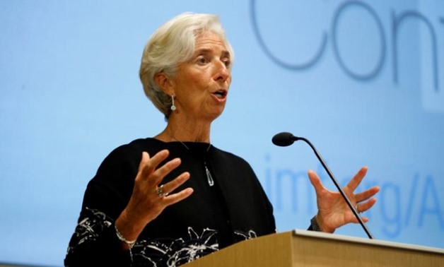 International Monetary Fund (IMF) Managing Director Christine Lagarde delivers opening remarks at the IMF's 17th Jaques Polak Annual Research Conference in Washington November 3, 2016. REUTERS/Kevin Lamarque