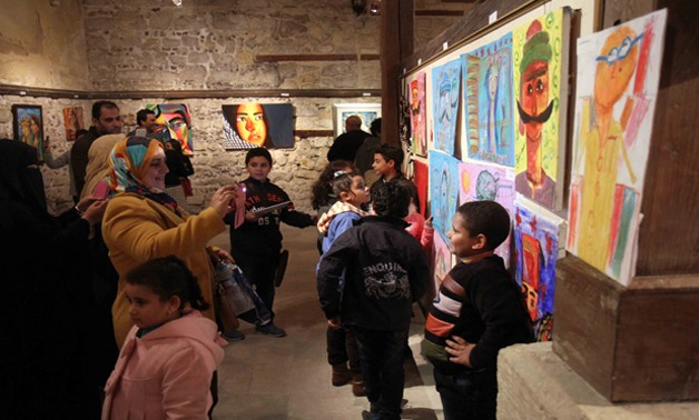 Exhibition of drawings by children (Archive)