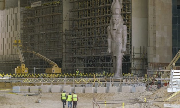 King Ramses Statue witness the construction works in GEM - Egypt Today
