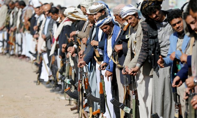 Armed Houthi followers attend a gathering showing support for their movement in Sanaa, Yemen December 19, 2018. REUTERS/Khaled Abdullah