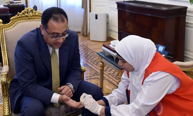 Prime Minister Mostafa Madbouly tested for hepatitis C as part of a presidential initiative - Egypt Today/Soliman al-Eteify