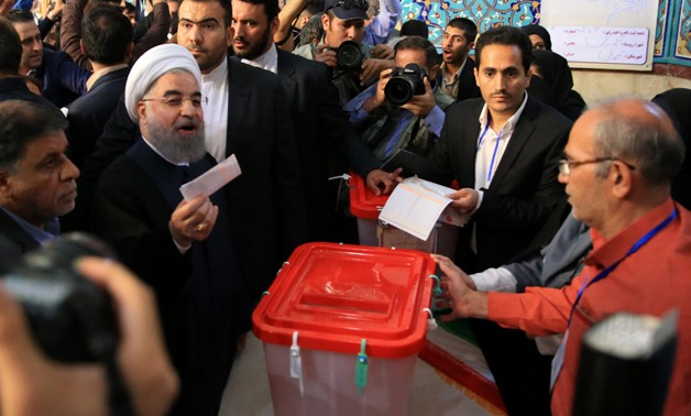 Iranian President Hassan Rouhani casts his vote during the presidential election in Tehran, Iran, May 19, 2017. TIMA via REUTERS ATTENTION EDITORS.