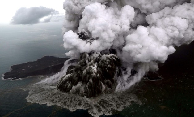 Anak Krakatoa is now just 110 metres high after losing two thirds of its height following the eruption that triggered the deadly tsunami