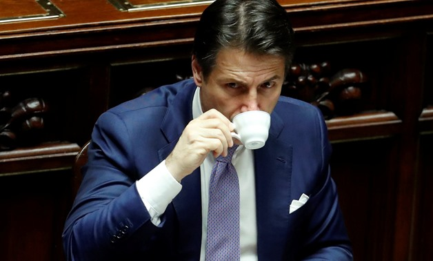 Italian Prime Minister Giuseppe Conte attends a final vote on Italy's 2019 budget law at the Lower House of the Parliament in Rome, Italy, December 29, 2018. REUTERS/Remo Casilli