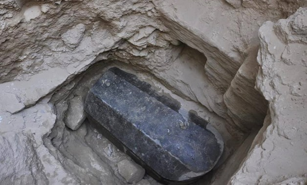 FILE- A 30-ton archaeological sarcophagus was found below a        building in Alexandria governorate, Egypt - Ministry of        Antiquities official Facebook page