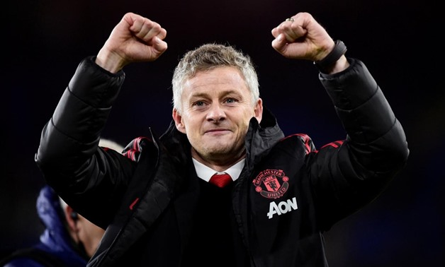 December 22, 2018 Manchester United interim manager Ole Gunnar Solskjaer celebrates after the match REUTERS/Rebecca Naden