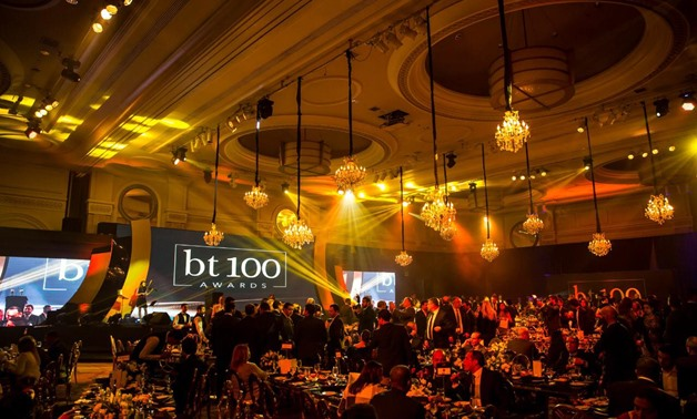 FILE - bt 100 ceremony held in February 2018 to honor influential companies in 2017