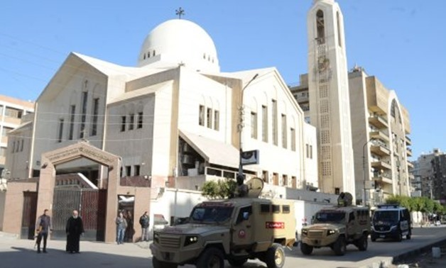 File: Egyptian Security Forces outside a Church in Cairo