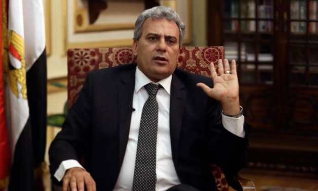"""President of Cairo University Gaber Nassar during an interview with the live talk show """"Akher Al-Nahar"""" on private satellite channel Al-Nahar."""