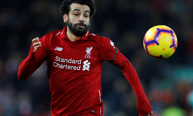 Soccer Football - Premier League - Liverpool v Arsenal - Anfield, Liverpool, Britain - December 29, 2018 Liverpool's Mohamed Salah in action REUTERS/Phil Noble EDITORIAL USE ONLY.