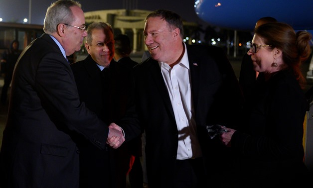 US Secretary of State Mike Pompeo arrives in Cairo - Press photo