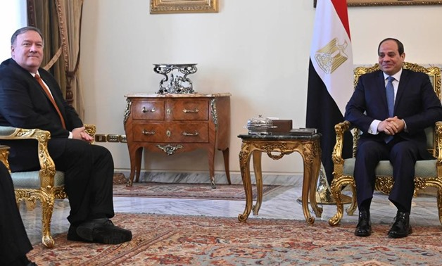 US Secretary of State Mike Pompeo meets with Egyptian President Abdel Fatah al-Sisi - Press photo