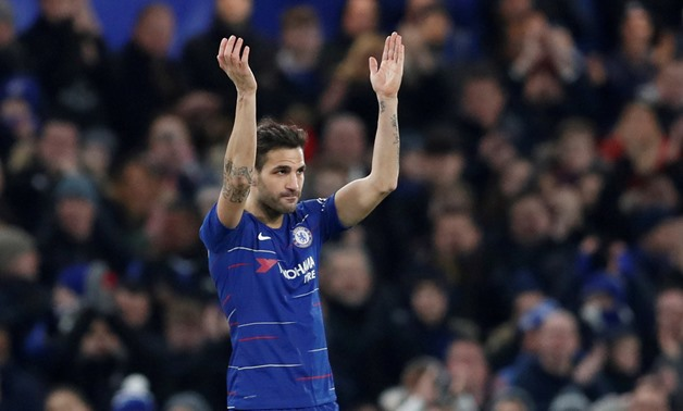 FILE PHOTO: Soccer Football - FA Cup Third Round - Chelsea v Nottingham Forest - Stamford Bridge, London, Britain - January 5, 2019 Chelsea's Cesc Fabregas applauds their fans as he leaves the pitch after being substituted Action Images via Reuters/Matthe
