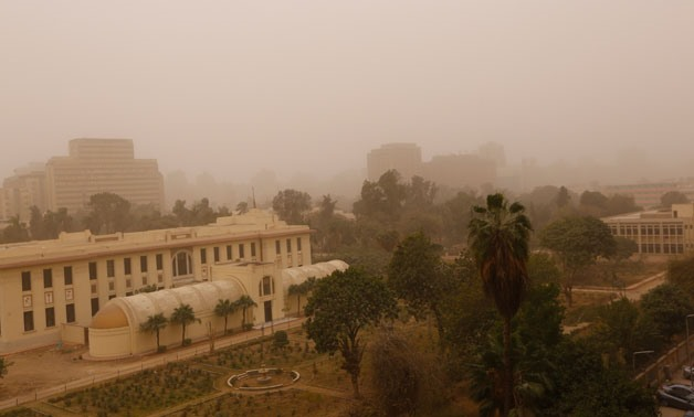 Egyptians are advised to stay home and avoid exposure to a heavy sandstorm that hit the country at its peak on Wednesday - Amr Mostafa /Egypt Today