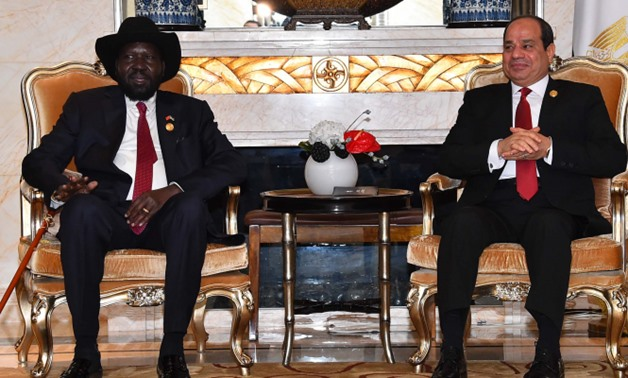 Sisi holds talks with South Sudanese President in Cairo