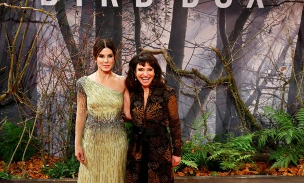"FILE PHOTO: Director Susanne Bier and cast member Sandra Bullock arrive for the European premiere of the movie ""Bird Box"" at Zoo Palast cinema in Berlin, Germany, November 27, 2018. REUTERS/Fabrizio Bensch"