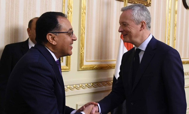 Egypt's PM received Bruno Le Maire in preparation for the upcoming visit of French President Emmanuel Macron to Egypt – Egypt Today