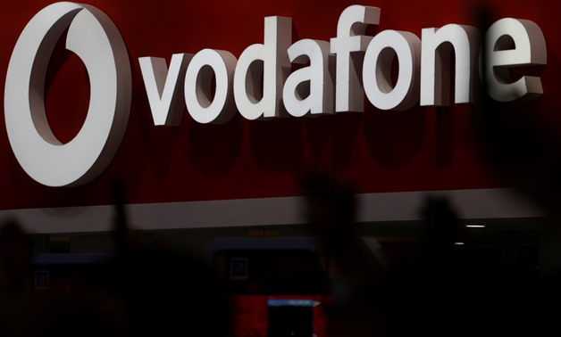 FILE PHOTO: The Vodafone logo is seen at the Mobile World Congress in Barcelona, Spain, February 28, 2018. REUTERS/Sergio Perez/File Photo