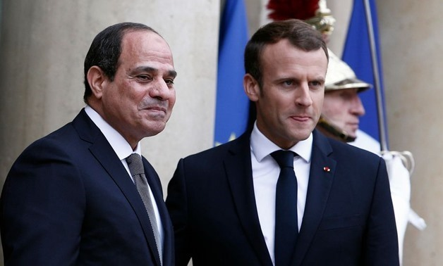 President Abdel Fatah al-Sisi and French President Emmanuel Macron - Reuters