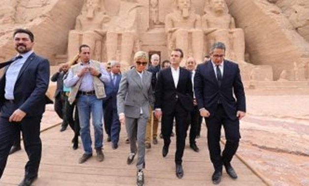 Macron during his visit to Egypt