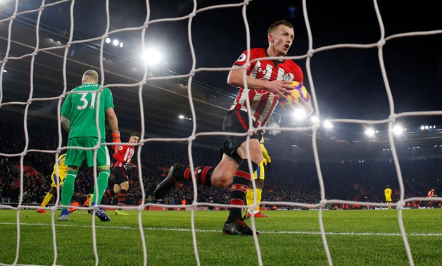 Soccer Football - Premier League - Southampton v Crystal Palace - St Mary's Stadium, Southampton, Britain - January 30, 2019 Southampton's James Ward-Prowse celebrates scoring their first goal Action Images via Reuters/Andrew Couldridge