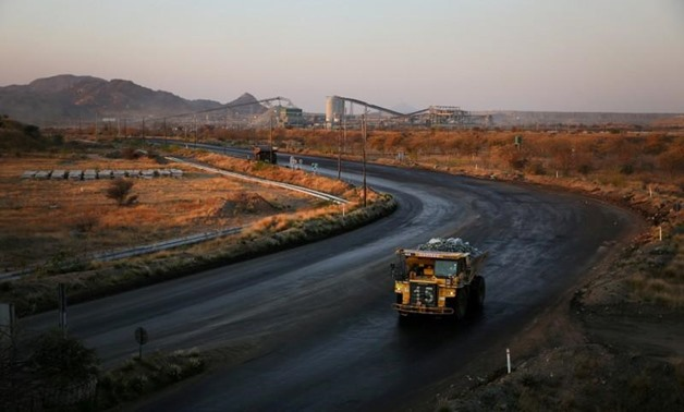 A haul truck is seen at the Mogalakwena platinum mine in Mokopane, Limpopo province, South Africa, September 19, 2017 - REUTERS