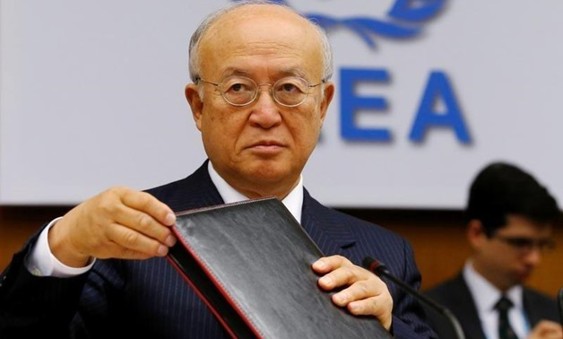 International Atomic Energy Agency (IAEA) Director General Yukiya Amano prepares for a board of governors meeting at the IAEA headquarters in Vienna, Austria June 6, 2016 - Reuters/Heinz-Peter Bader
