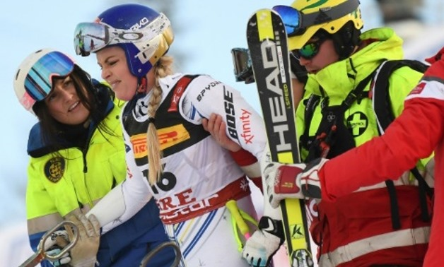 Vonn crashed out of her penultimate race on Tuesday AFP
