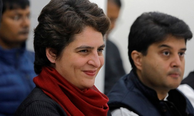 Priyanka Gandhi Vadra, a leader of India's main opposition Congress party, attends a meeting inside the party's headquarters in New Delhi, India February 7, 2019. REUTERS/Anushree Fadnavis