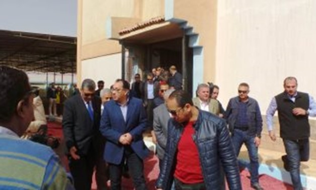 Prime Minister Moustafa Madbouli inspected on Sunday a new factory of the state-owned Egyptian Chemical Industries Company (KIMA) in the Upper Egypt governorate of Aswan - Press Photo