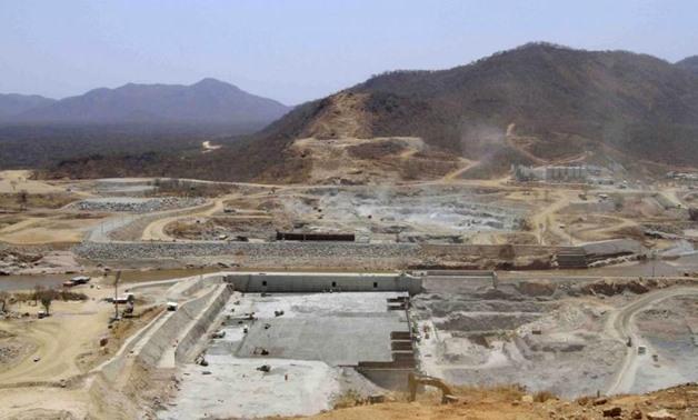 File- FILE- A general view shows construction activity on the Grand Renaissance dam in Guba Woreda, Benishangul Gumuz region in this March 16, 2014 file photo. REUTERS/Tiksa Negeri/Files