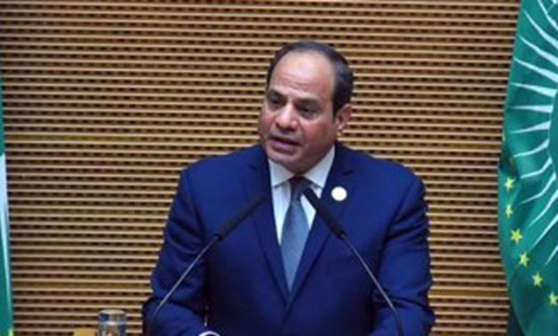 President Abdel Fatah al-Sisi in the 32nd African Union Summit held in Ethiopia, Addis Ababa. February 10, 2019. Press Photo