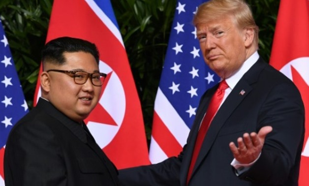 The US President and North Korean leader are due to meet in Hanoi following their landmark first summit in Singapore last June AFP/File