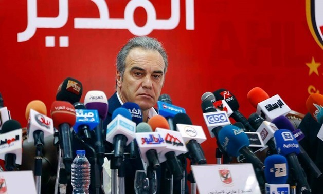 Lasarte during his presentation as Al-Ahly new manager, Egypt Today