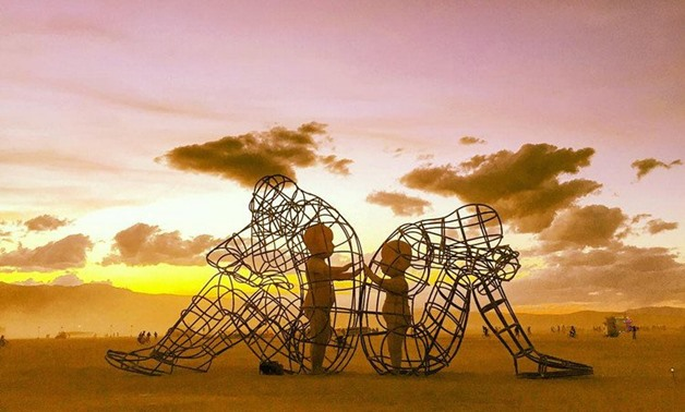 The Burning Man Sculpture - Courtesy of Collective Evolution