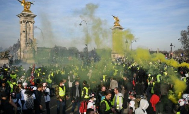 AFP | Thousands took part in 'yellow vest' protests in France on February 17, 2019