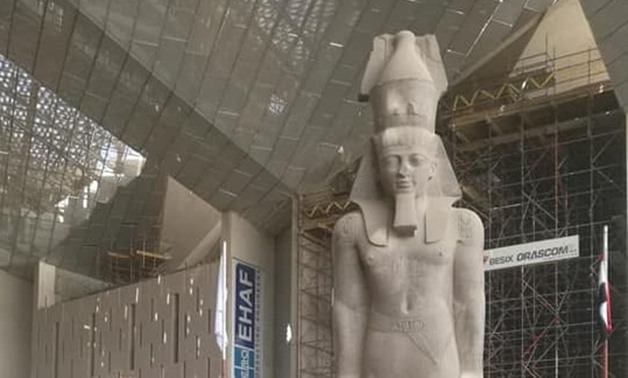 Statute of Ramses II at GEM in Egypt - FILE