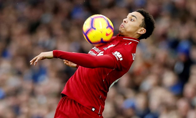 FILE PHOTO: Soccer Football - Premier League - Brighton & Hove Albion v Liverpool - The American Express Community Stadium, Brighton, Britain - January 12, 2019 Liverpool's Trent Alexander-Arnold in action Action Images via Reuters/Paul Childs