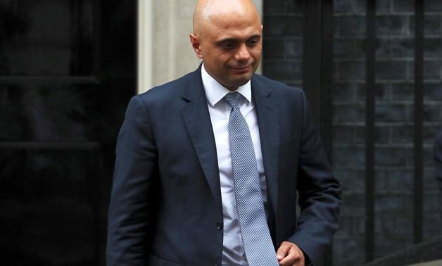 FILE PHOTO - Britain's Home Secretary Sajid Javid leaves a Brexit subcommittee meeting at Downing Street in London, Britain, May 2, 2018. REUTERS/Hannah