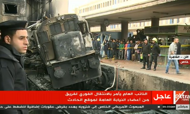 A fire broke out at the main train station in Cairo's Ramsis